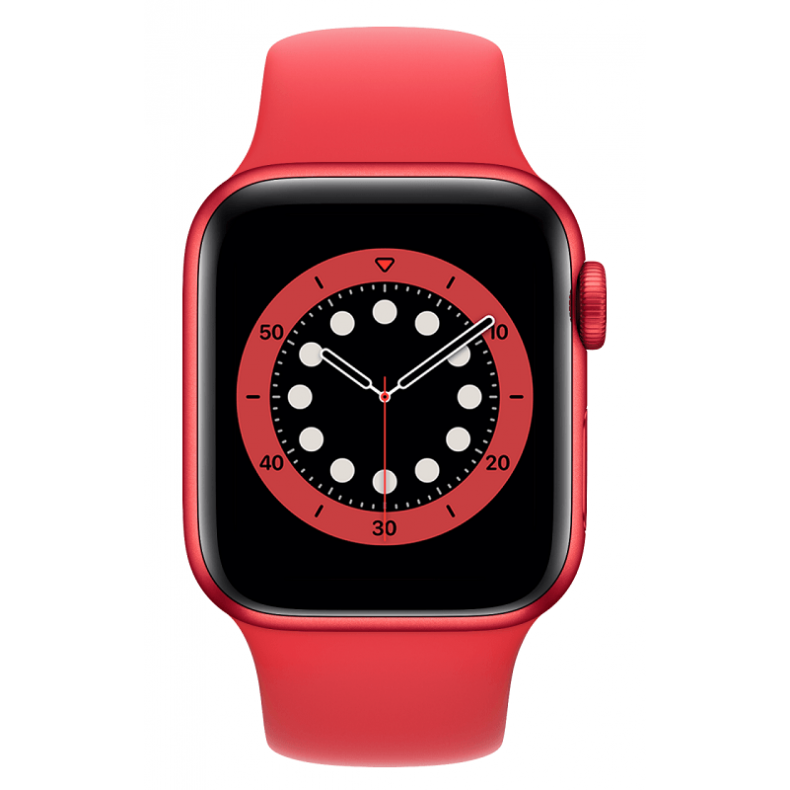 APPLE Watch 6 GPS, 40mm, Red Aluminium Case with Red Sport Band