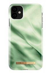 IDEAL Fashion dėklas iPhone 11/XR, Pistachio satin. Nugarėlė