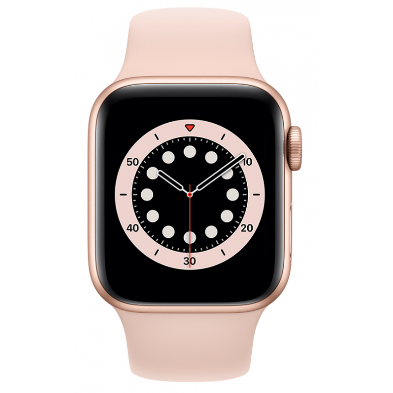 APPLE Watch 6 GPS, 40mm Gold Aluminium Case with Pink Sand Sport Band